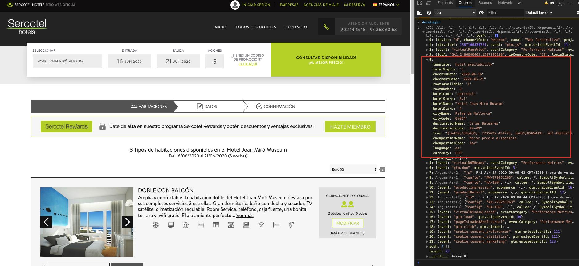 datalayer para hoteles - roiback